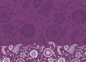 paisley floral pattern , wedding template , royal India
