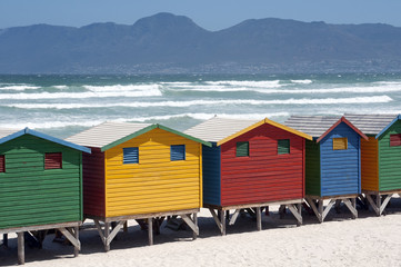 Beach huts at Muizenberg South Africa