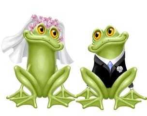 Fototapete - ranocchie sposi