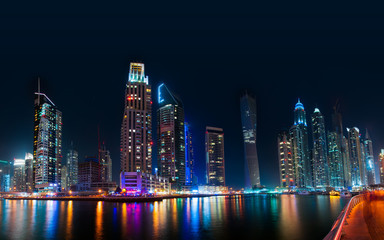 Dubai Skyline by night