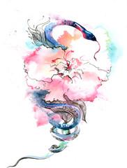 flower and snake