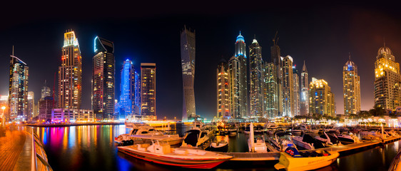 Printed roller blinds Dubai Dubai Skyline by night