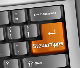"Keyboard Illustration ""Steuertipps"""