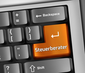 "Keyboard Illustration ""Steuerberater"""