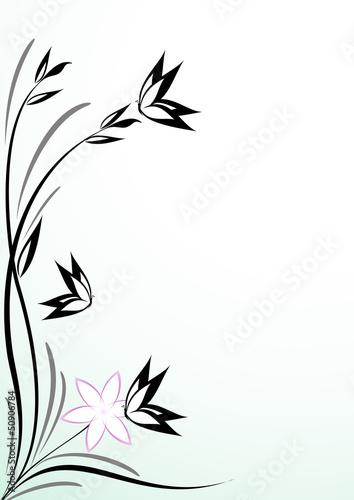 Sfondo decorazione floreale con farfalle immagini e for Decorazione floreale