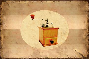 Fond de hotte en verre imprimé Affiche vintage Retroplakat - Kaffeemühle