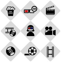 cinema 3d icons