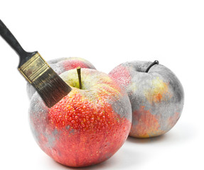 concept of painting apple