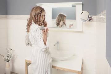 Fototapeta w domowej łazience obraz