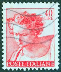 Head of prophet Daniel from Sistine Chapel (Italy 1961)