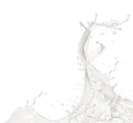 Fototapeta  Milk splash, isolated on white background obraz