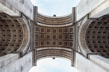 Wall Mural - Detail shot of Arc de Triomphe in Paris - France