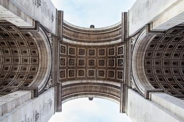 Fotomurales - Detail shot of Arc de Triomphe in Paris - France