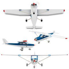 3d small plane collection