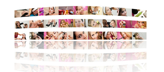 Mur de maquillage