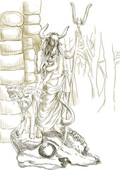 Greek myth and legends (Full sized hand drawing) - Hades