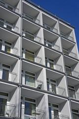 Fassaden von Mehrfamilienhäusern in Kiel, Deutschland