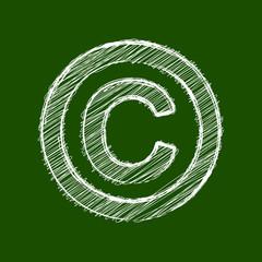 Copyright Scribble Tafel Kreide