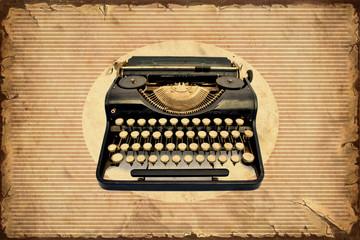 Foto auf Acrylglas Weinlese-Plakat Retroplakat - Machine zum Schreiben
