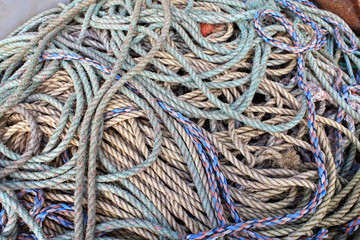 ropes on a quay