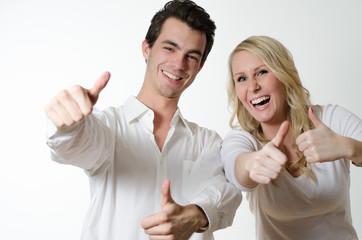 Zustimmung von Mann und Frau