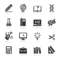 Education Icons set 1. Vector Illustration.