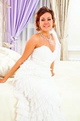 Bride on bed