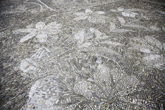 Medieval stone floor