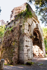 Wall Mural - Ruins from Porta di San Sebastiano at Via Appia antica - Rome