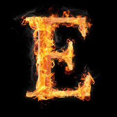 Burning objects and objects on fire background
