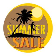 Summer sale abstract, vector illustration
