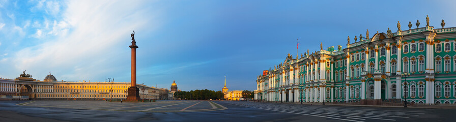 Panorama of Palace Square in St. Petersburg
