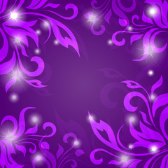 Abstract vector background of petals