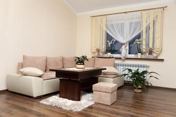 Apartament, salon nowoczesne wnętrze.