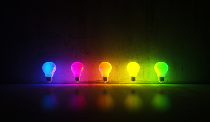 Coloured bulbs