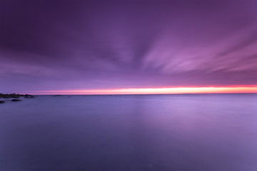 Baltic Ocean Scene photographed with long exposure