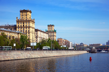 View of Moscow. Berezhkovskaya embankment