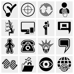 Business, management ,isocial media icons set