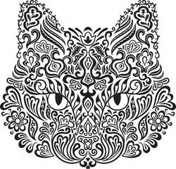 Wall Mural - Ornamental cat