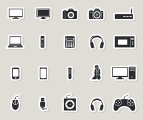 computer, multimedia and electronic devices icons stickers