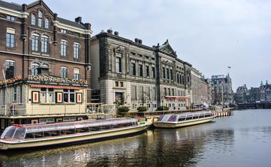 Vista de la ciudad de Amsterdam (Holanda, Europa)