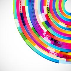 Abstract digital circles background