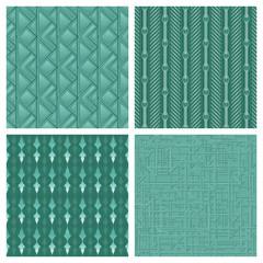 Elegant Teal Pattern Collection
