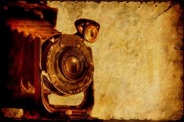 Fond de hotte en verre imprimé Affiche vintage Retroplakat - Kamera