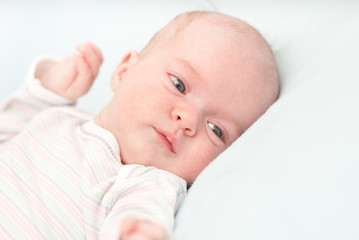 cute newborn adorable baby at home