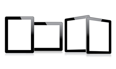 Empty tablets with multiple views eps10 vector