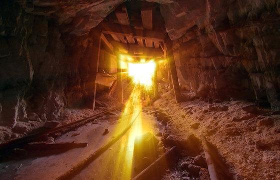 Gold Light Beams