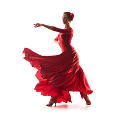 Photo Blinds Carnaval woman dancer wearing red dress