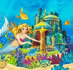 Photo sur Plexiglas Mermaid The princesses - castles - knights and fairies