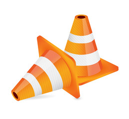 construction cone illustration design